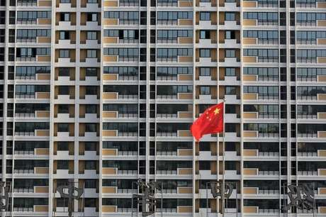 Bandeira da China é vista em Huaian, na província de Jiangsu 12/07/2018 REUTERS/Stringer
