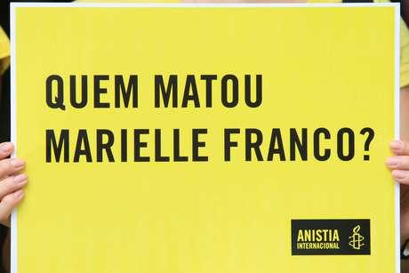 Ato promovido pela Anistia Internacional, em junho de 2018, questionava assassinato de Marielle