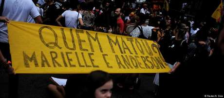 Protesto contra a morte de Marielle no Rio