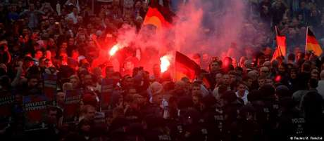Manifestações em Chemnitz atraíram milhares de pessoas