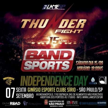 Thunder Fight 15 terá transmissão da Band Sports para todo o território brasileiro (Foto: Divulgação)