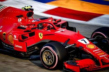 Kimi Raikkonen em ação em Singapura
