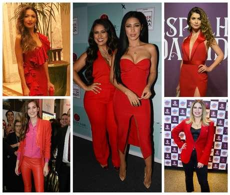 Famosas in red (Fotos: AgNews/Reprodução/Instagram)