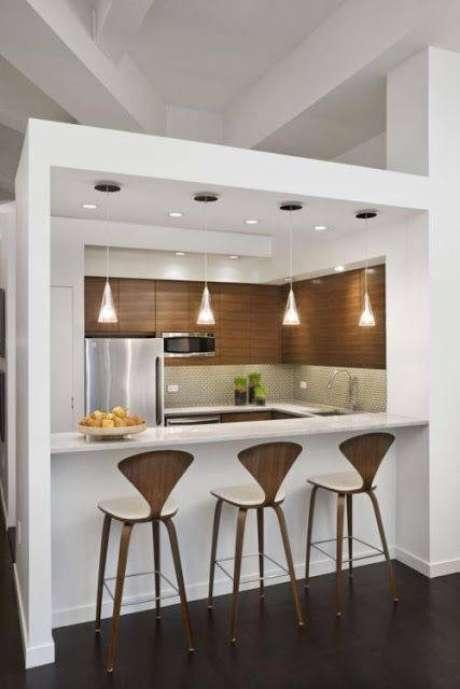 2- Cozinha modulada feita com o sistema de drywall otimizando o ambiente
