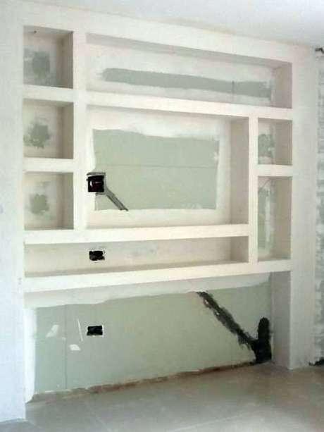7- Aplicação do mobiliário de drywall