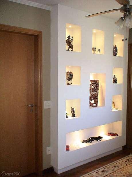 11- Drywall de nichos com spots embutidos