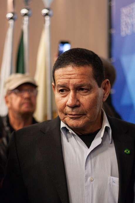 O candidato a vice presidente na chapa de Jair Bolsonaro, General Antonio Hamilton Martins Mourão