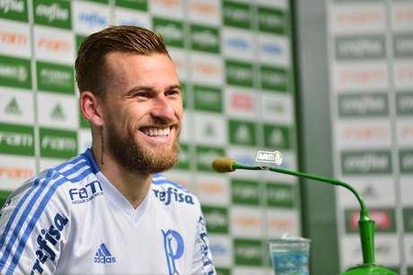 Lucas Lima afirmou que está feliz no Palmeiras