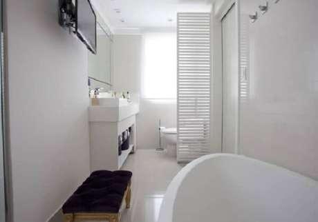 24- A parede de drywall do banheiro foi realizada com chapa verde. Fonte: Habitissimo