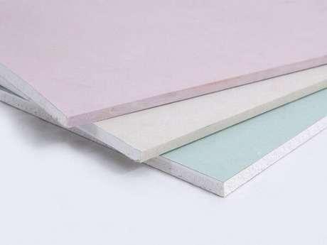 6- Existem 3 tipos de chapas de drywall com funções diferentes. Fonte: zap em casa