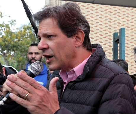 Candidato do PT à Presidência, Fernando Haddad, em São Bernardo do Campo 05/09/2018 REUTERS/Paulo Whitaker