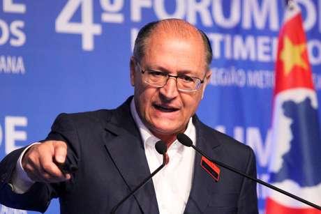 Geraldo Alckmin durante evento em Campinas, interior de São Paulo