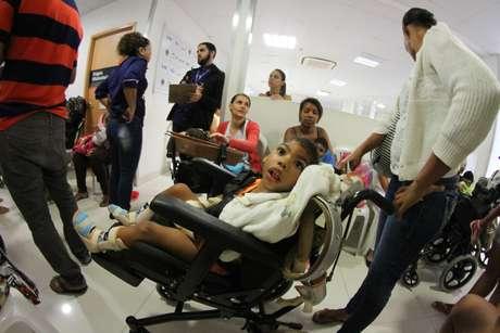 Mutirão de atendimento à crianças com Zika Vírus na Fundação Altino Ventura, zona Oeste do Recife (PE)