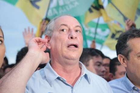Ciro Gomes durante campanha em Belém (PA) no último sábado (15)
