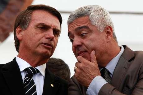 Major Olímpio conversa com Jair Bolsonaro
