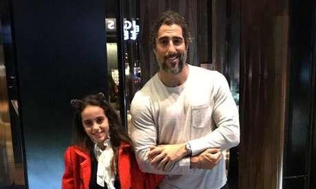Marcos Mion e sua filha, Donatella.
