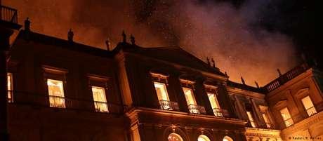 Incêndio destruiu o Museu Nacional no Rio de Janeiro