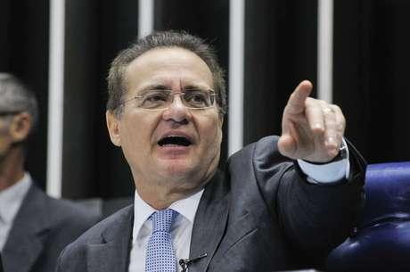 O senador Renan Calheiros, provável maior beneficiado caso a eleição para presidente do Senado seja secreta