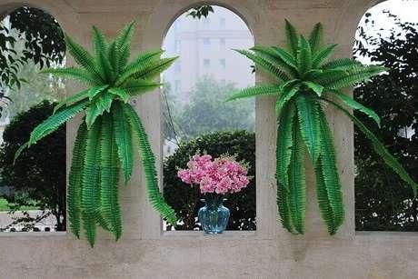 1- A samambaia é uma planta que não produz sementes e flores. Fonte: DHgate