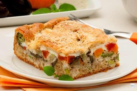 Torta de legumes e ricota