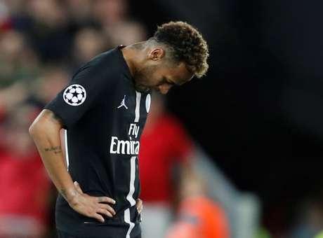 Neymar durante partida pelo PSG