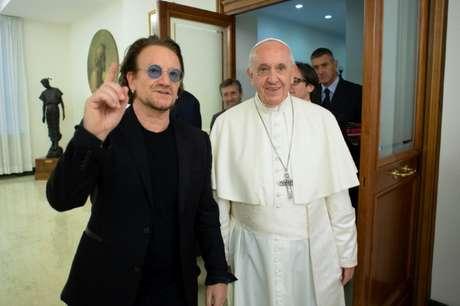 Bono se reúne com papa no Vaticano   19/9/2018   Divulgação