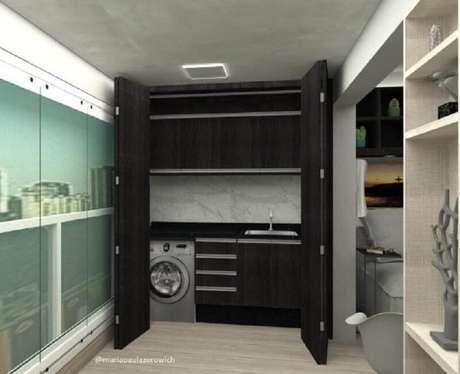 """15. A porta camarão é excelente para """"esconder"""" a lavanderia pequena – Foto: Maria Paula Zorowich"""