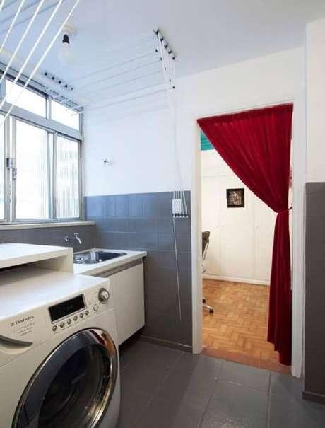 54. Modelos de lavanderia simples – Foto: Buji Decoração