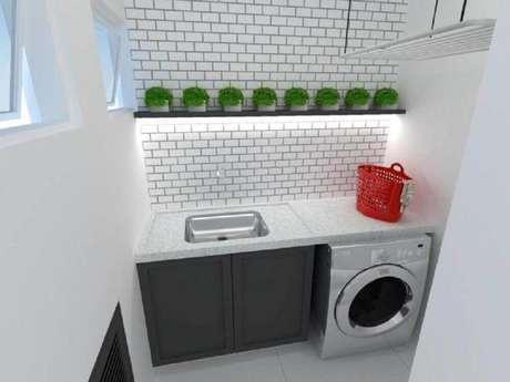86. Invista em projetos de modelos de lavanderia pequena planejada – Foto: Studio Brasil Arquitetura