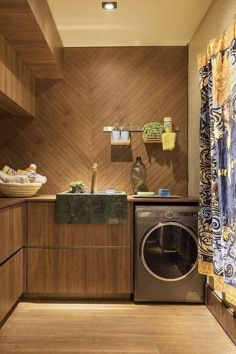 4. Em casa com espaço reservado para lavanderia é possível ousar na decoração desse espaço – Foto: Urbano Studio