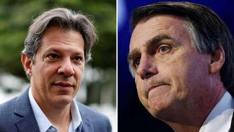 Os presidenciáveis Fernando Haddad e Jair Bolsonaro