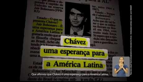 Programa relembra elogio de Bolsonaro a Chávez