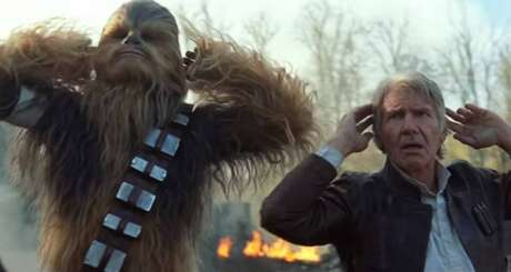 Chewbacca e Han Solo, personagens de 'Star Wars'