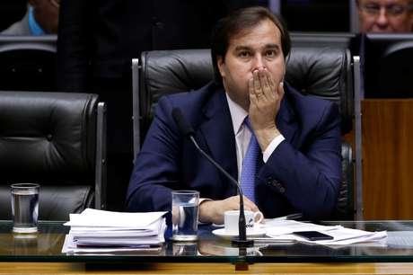 Rodrigo Maia durante sessão da Câmara  25/10/2017   REUTERS/Adriano Machado