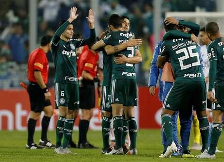 Time do Palmeiras enfrentou o Colo-Colo no Chile