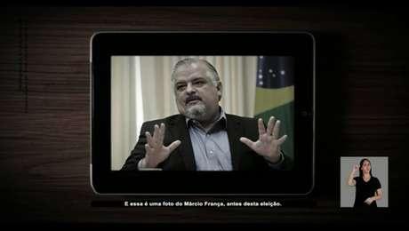 Imagem da propaganda eleitoral da campanha de João Doria (PSDB) contra o candidato à reeleição ao governo de São Paulo, Márcio França (PSB)