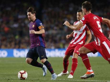 Com um a menos, Barcelona fica no empate com o Girona pelo Espanhol (Foto: AFP)
