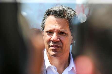 O candidato do PT à Presidência da República, Fernando Haddad