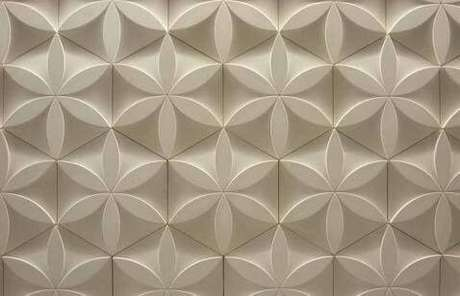 30. Gesso 3D com textura de flor. Foto de Mercado Livre