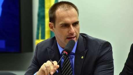 Eduardo Bolsonaro é o filho mais velho do candidato do PSL e deputado federal por São Paulo