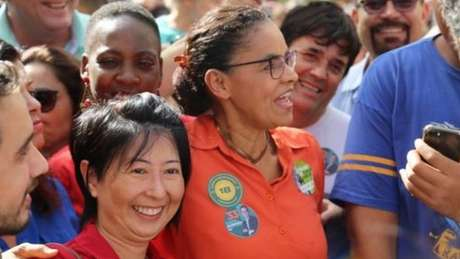 Marina Silva (Rede) foi praticamente ignorada por seus adversários nas redes sociais