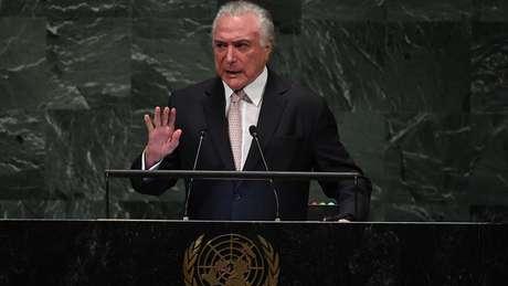 O presidente Michel Temer (MDB) defendeu seu legado na ONU e disse que deixa o país 'melhor do que recebeu'
