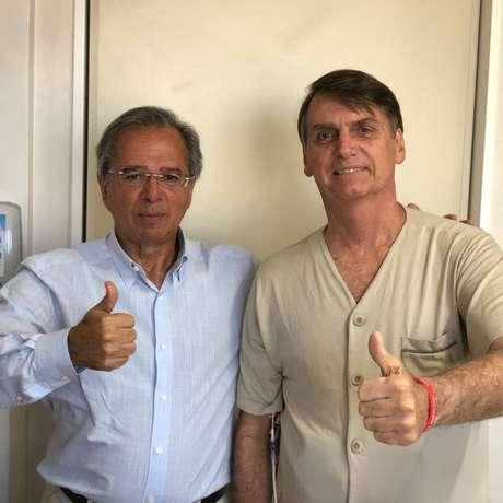Paulo Guedes visitou Bolsonaro neste domingo, 23, em São Paulo.