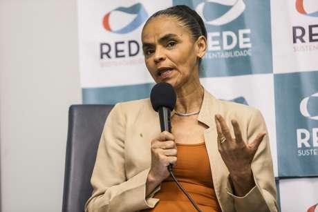A ex-senadora e ex-Ministra do Meio Ambiente, Marina Silva em evento pela Rede Sustentabilidade.