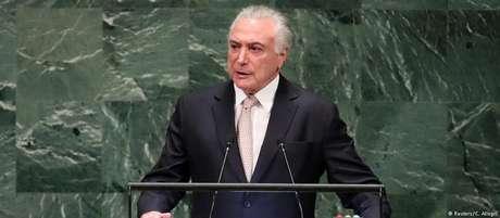 """Vivemos tempos toldados por forças isolacionistas"", disse o presidente Michel Temer na abertura da Assembleia Geral"