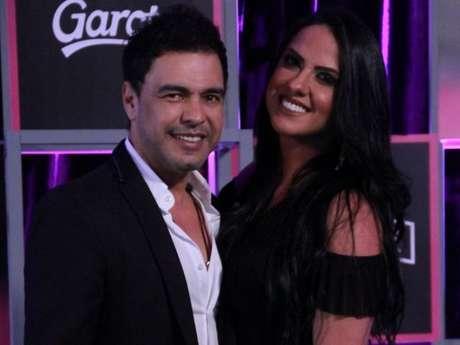 Zezé Di Camargo e Graciele Lacerda revelaram que estão casados durante passagem pelo Prêmio Multishow, nesta terça-feira, 25 de setembro de 2018