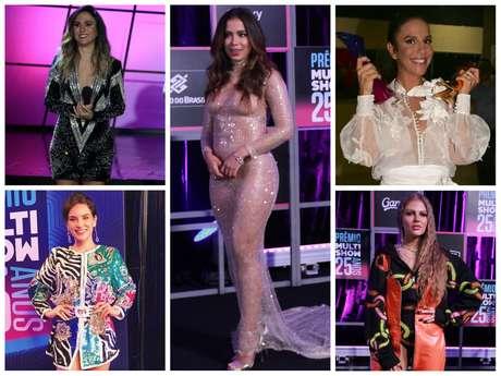 Famosas no Prêmio Multishow (Fotos: AgNews - @kefera/Instagram/Reprodução)