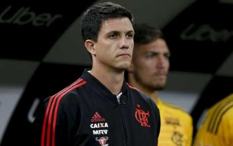 Maurício Barbieri no comando do Flamengo diante do Corinthians