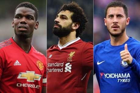 Pogba, Salah e Hazard vão estar em campo nesta rodada (Foto: Reprodução)