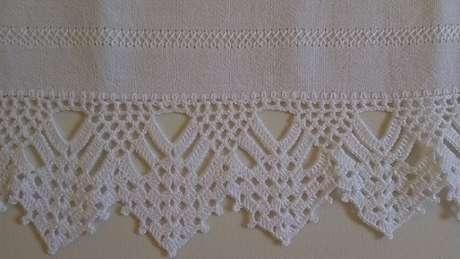 24. Bico de crochê para pano de prato com pontas. Foto de Arte aos 4 Ventos